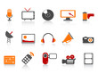 simple media tools icon set