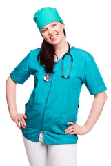surgeon with a stethoscope