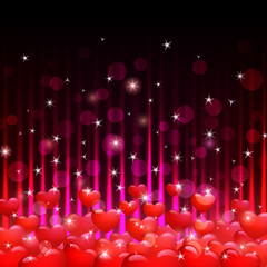 hearts and sparks background