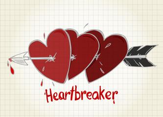 Three hearts and the arrow
