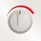 Plastic knob of a cooker