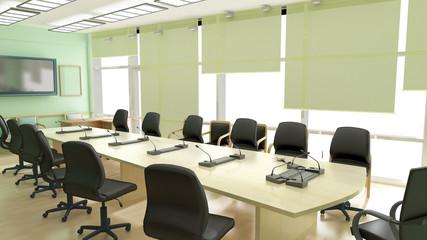 Green office interior