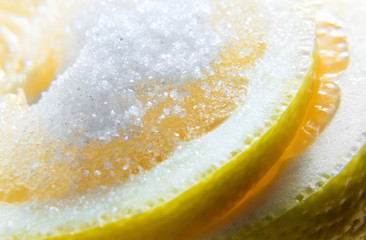 lemon with sugar.