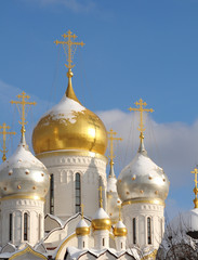 Shining domes of white church