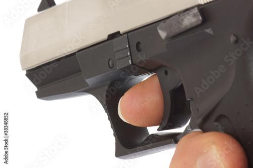 Leinwanddruck Bild Schusswaffe