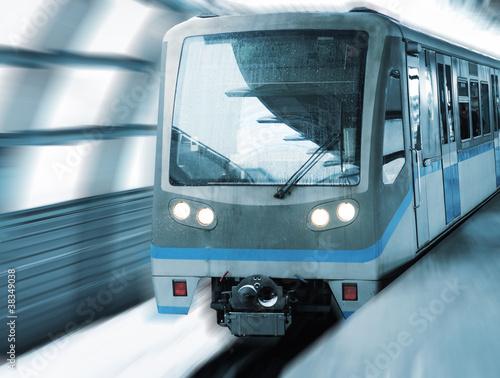 Fototapeta podróż - lokomotywa - Kolej