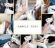 Medizinische Fußpflege - Collage