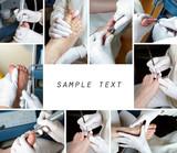 Medizinische Fußpflege -Collage