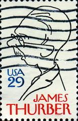 James Thurber. 1894-1961. US Postage.