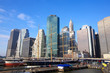 Lower Manhattan Seaport and Financial District in New York City