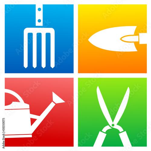 Logo jardinage 1 fichier vectoriel libre de droits sur for Heure de jardinage