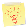 ideas or innovations concept with a bulb symbol
