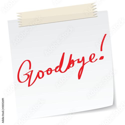 goodbye note
