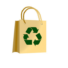 brown paper bags with recycle symbol