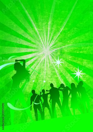 Leinwandbild Motiv Plakat Tanz in den Mai
