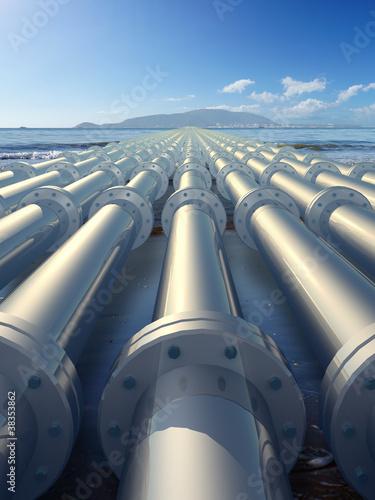 Leinwanddruck Bild pipeline