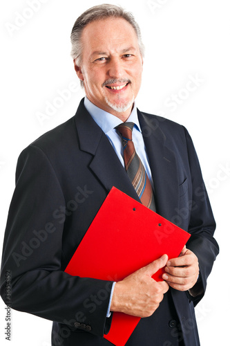 Businessman portrait isolated