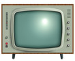 retro tv isolated. - 38355251