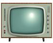 retro tv isolated. - 38355251