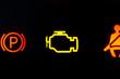 Warnleuchten, Auto Armaturenbrett