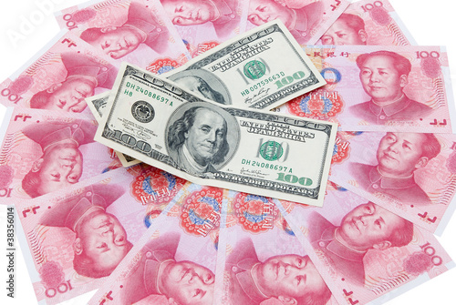 US dollars and RMB yuan