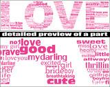 typographic Love texture poster