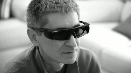 Man Watching 3D Movie - Black & White Video
