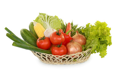 fresh healthy vegetables in the basket