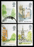 London Landmarks Postage Stamps poster