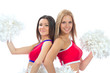 Two beautiful dancer girls from cheerleading team