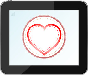 heart icon for mobile devices tablet pc