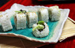 sushi rolls on plate