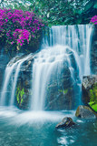 Fototapete Bach - Cascade - Wasserfall / Schnellen / Geysir