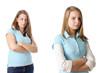 Zwei junge Frauen streiten sich