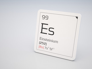 Einsteinium - element of the periodic table