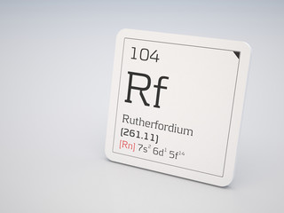 Rutherfordium - element of the periodic table