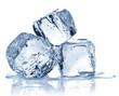 Leinwandbild Motiv Three ice cubes