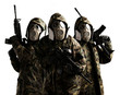 three armed soldiers