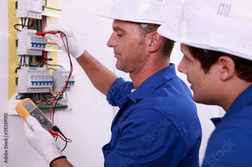 Electrical inspectors at work