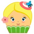Cute Cupcake Cartoon Couture Green