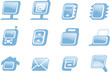 Style web buisiness icons set