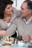 mature chessplayer and wife
