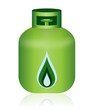Green Natural Gas Bottle Icon