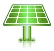 Green Solar Panels Renewable Energy Icon
