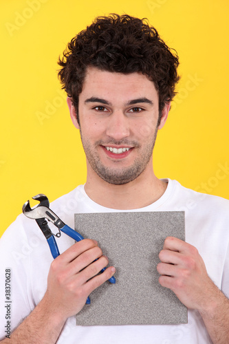 Portrait of a tiler