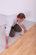 portrait of a man laying parquet