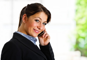 Businesswoman at phone