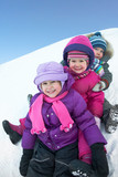 children in winter
