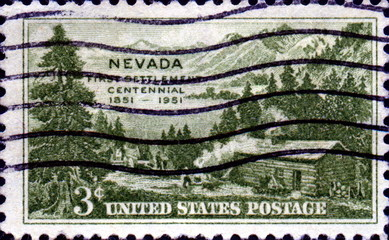 Nevada. First Settlement. 1851-1951. US Postage.