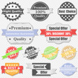 Set of Premium Quality and Sale labels